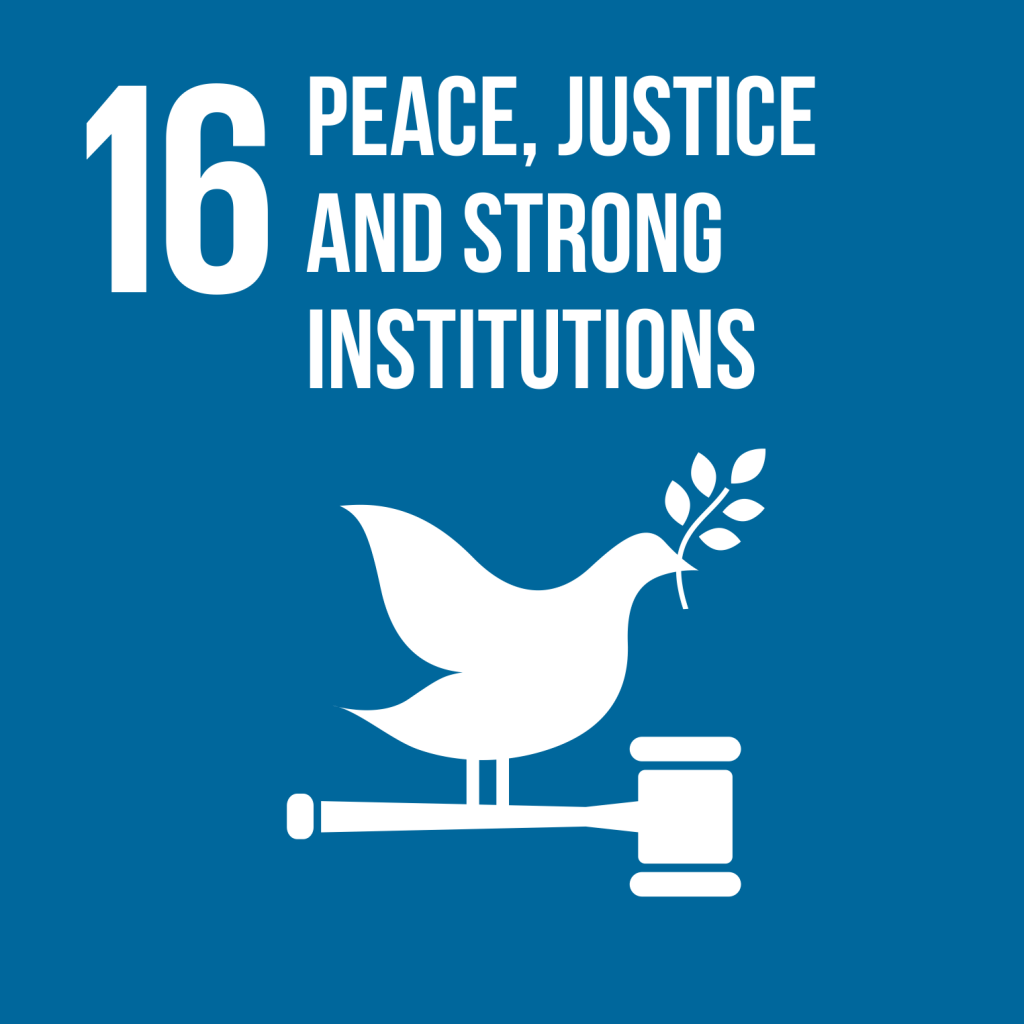 Goal 16 Peace justice and strong institutions