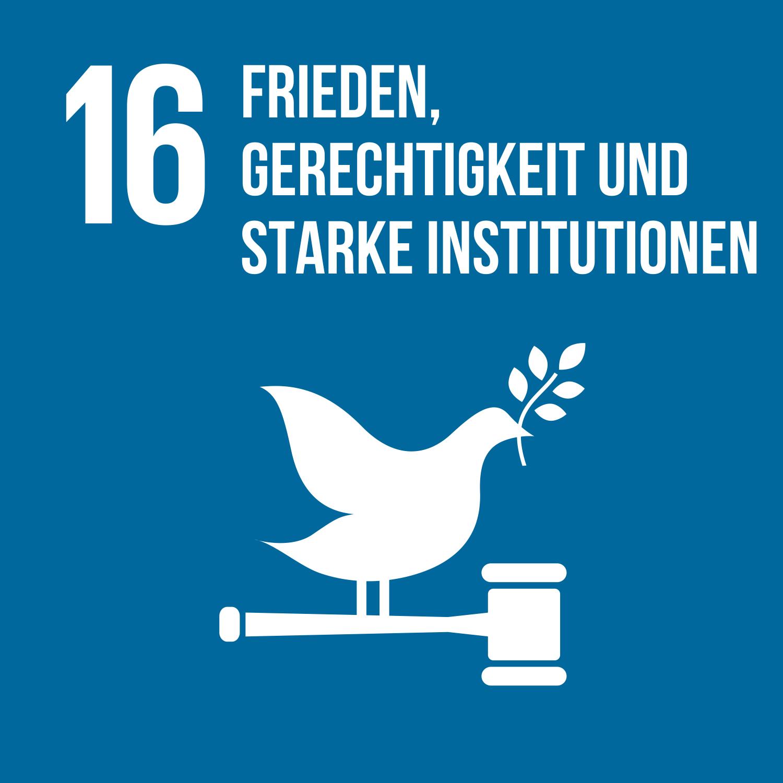 Ziel 16 Frieden Gerechtigkeit und starke Institutionen