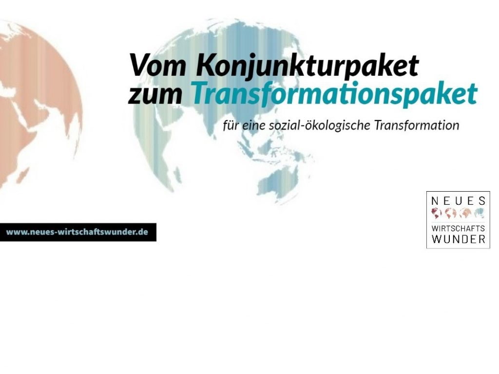 Bundesvereinigung ist Erstunterzeichnerin des Offenen Briefes der Initiative Neues Wirtschaftswunder